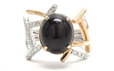 Sillimanite Cat's-eye Ring