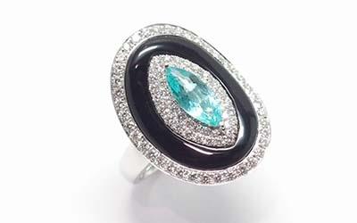 K18WG Paraiba Ring