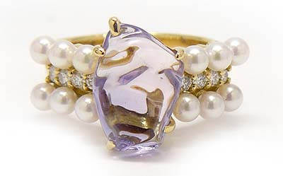Un-heated Sapphire Ring