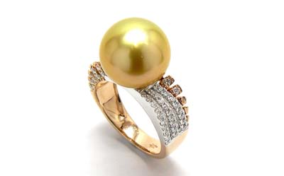 Golden Pearl Ring