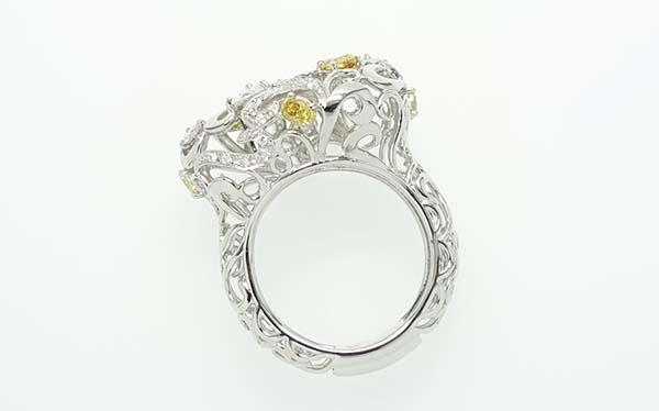 オーダーメイドジュエリー/ファンシーカラーダイヤモンドリング